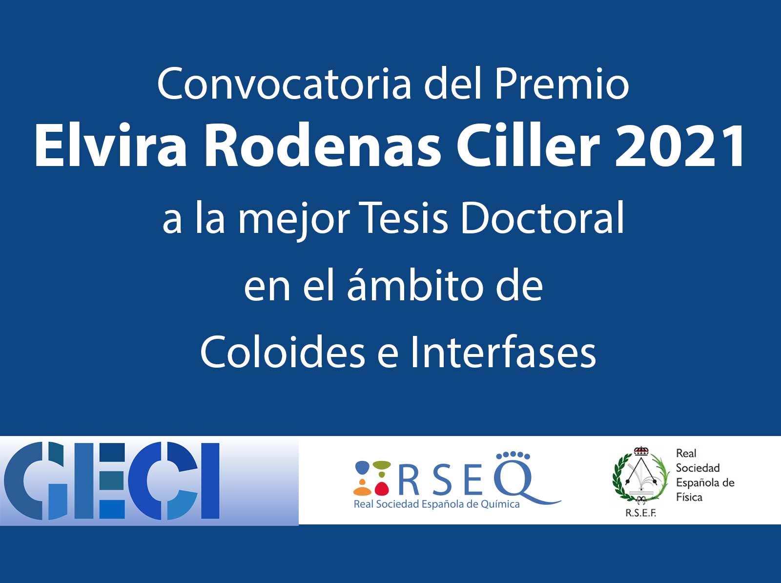 Convocatoria del Premio Elvira Rodenas Ciller 2021